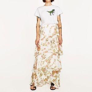 Zara Maxi Skirt with Frills